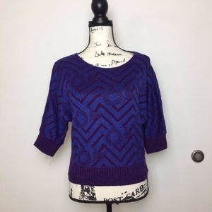 Purple and blue abstract sweater